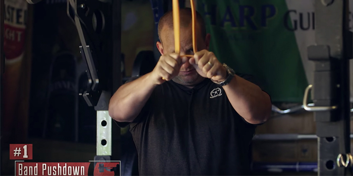WATCH: 17 Band Exercises Powerlifters Can Do at Home