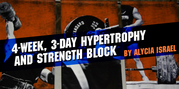 4-Week, 3-Day Hypertrophy and Strength Block
