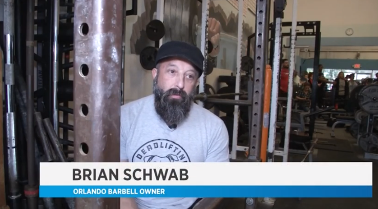 Orlando Barbell on local Spectrum News 13 for our Deadlifting for Doggies Fundraiser!