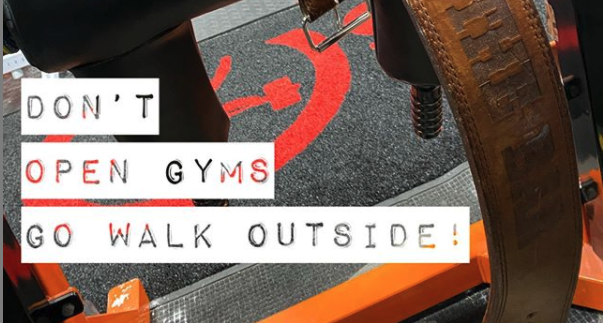 Don't Open Gyms! Just Go For A Walk...