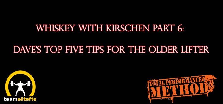 CJ Murphy, Dave Kirschen, Elitefts.com, Top 5 tips, powerlifting, older lifter, over 40, over 50