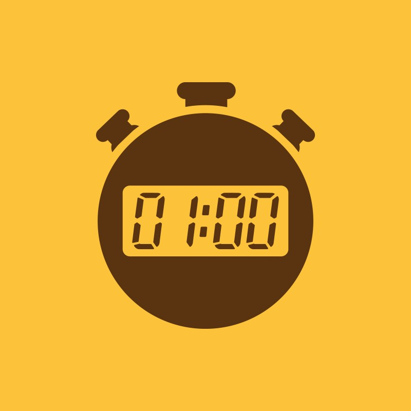 The 60 seconds, minutes stopwatch icon. Clock and watch, timer, countdown, stopwatch symbol. UI. Web. Logo. Sign. Flat design. App.