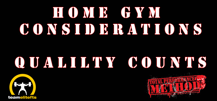 Home Gym Considerations