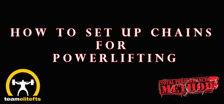How to Set Up Chains for Powerlifting, elitefts, cj murphy